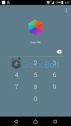 Hexlock App PIN Protection