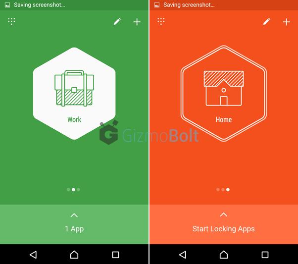 Hexlock app offers 6 profiles to lock apps