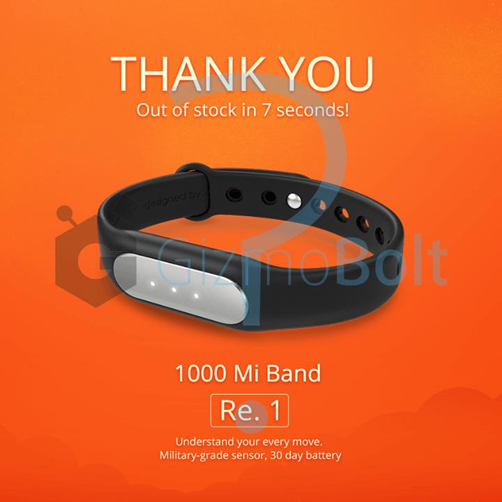 Xiaomi Mi Band out of stock in less than 1 second - Marketing Stunt