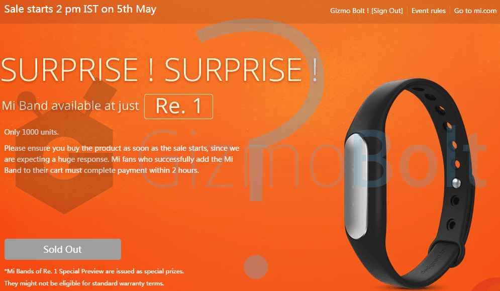Xiaomi Mi Band sold within 1 second - Marketing stunt