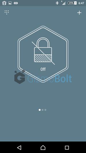 Unlock profiles in Hexlock app