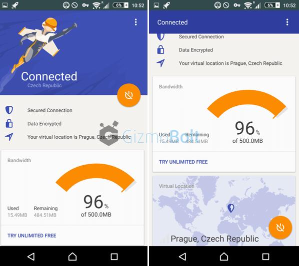 Rocket VPN App Secure Connection