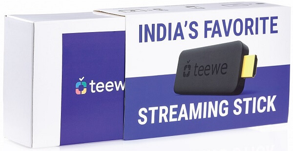 Teewe 2 Media Streaming Dongle launched in India