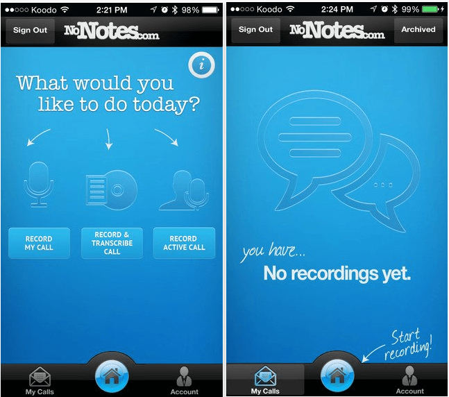 Download Call Recording by NoNotes.com app