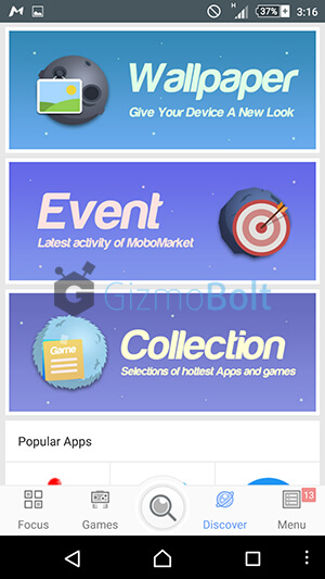 MoboMarket Android app