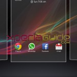7 pane homescreen in Xperia SL LT26ii Jelly Bean 6.2.B.0.200 fimrware