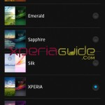 New themes in Xperia SL LT26ii Jelly Bean 6.2.B.0.200 firmware