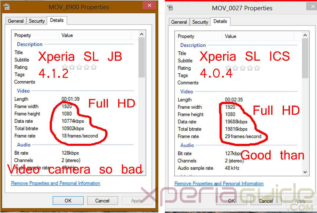 Poor Quality of 1080p HD Videos in Xperia SL LT26ii 6.2.B.0.200 jelly bean firmware