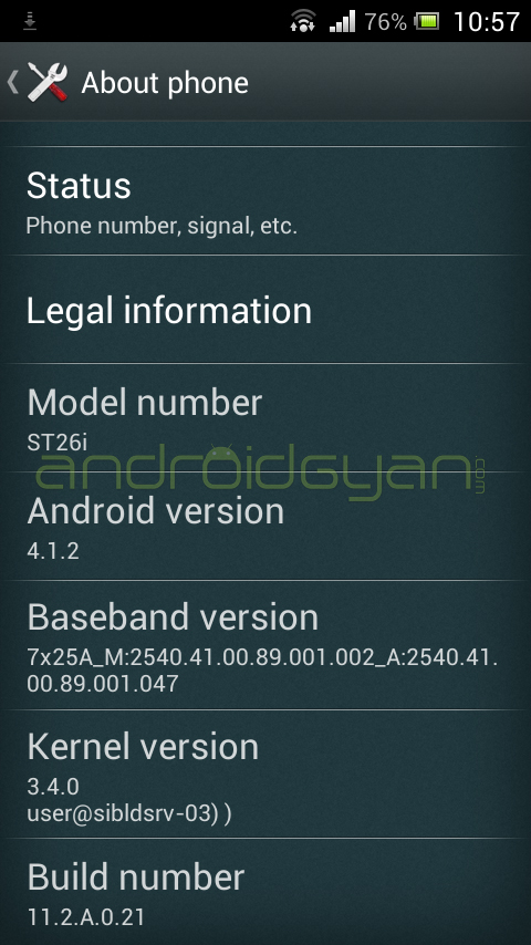 Root Xperia J on Jelly Bean 11.2.A.0.21 firmware