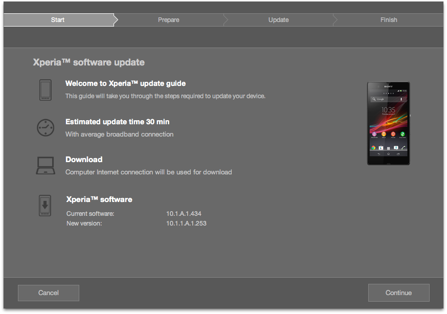 Sony ericsson xperia x1 receives firmware update.