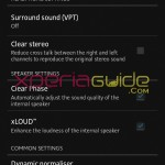 Walkman Audio settings in Xperia SL LT26ii Jelly Bean 6.2.B.0.200 fimrware