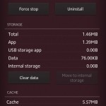 Xperia Privilege App Version 2.0 Memory details