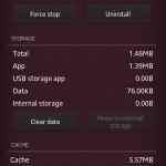 Xperia Privilege App Version 2.0 Memory details