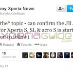 Xperia SL LT26ii and Acro S LT26w Jelly Bean 6.2.B.0.200 firmware Rolling out Today – Sony Xperia News Tweet