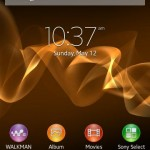 homescreen of Jelly Bean 6.2.B.0.203 firmware for Xperia Ion