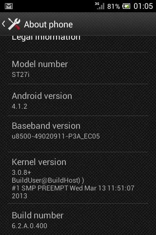 xperia go jelly bean 6.2.A.0.400 firmware