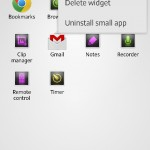 Add widgets as smalla apps in Xperia ZL C6503 Android 4.2.2 Jelly Bean 10.3.A.0.423 firmware
