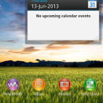 Calendar Small Apps in Xperia Z C6603 Android 4.2.2 Jelly Bean 10.3.X.X.XXX firmware