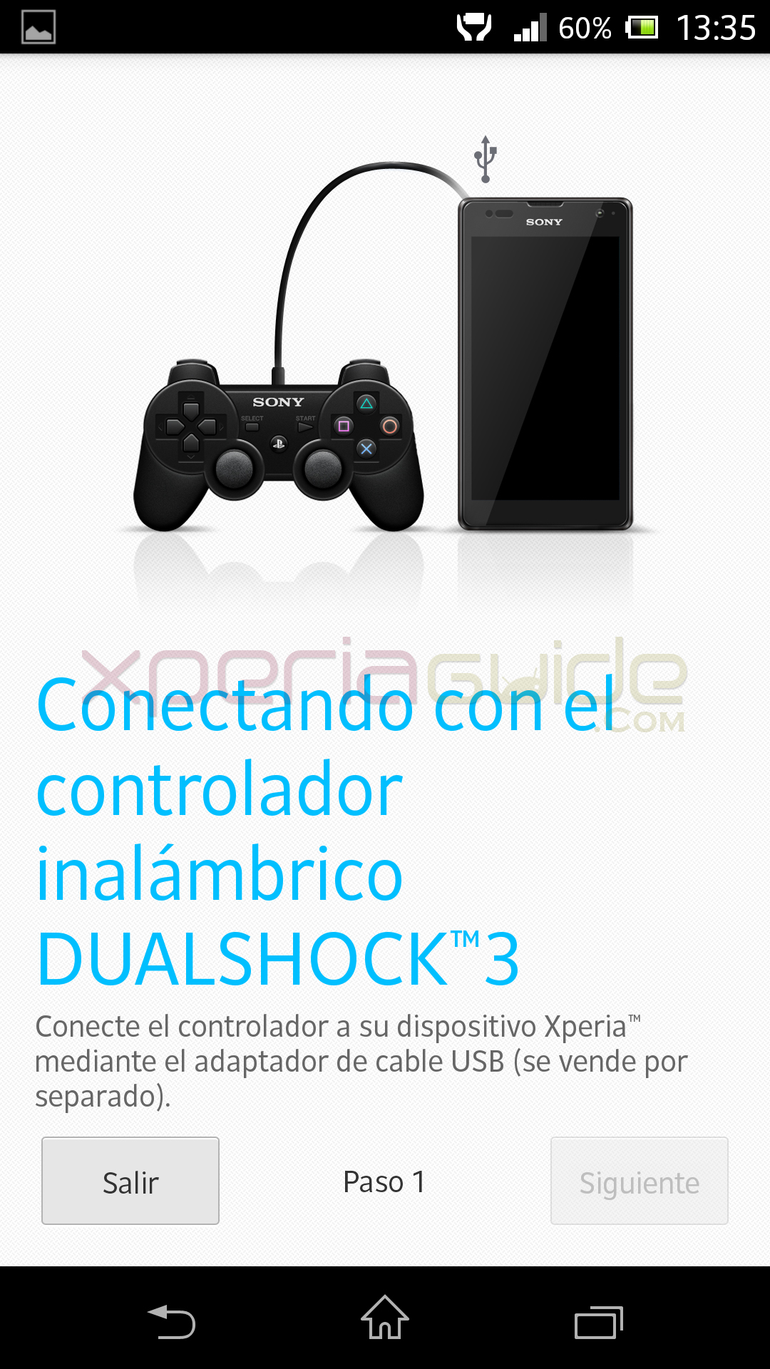 Dual Shock 3 Wireless control settings in Xperia Z C6603 Android 4.2.2 Jelly Bean 10.3.A.0.423