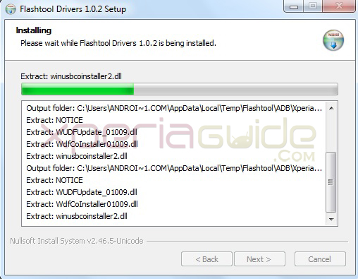 Installing Xperia SL LT26ii driver for  6.2.B.0.211  Jelly Bean firmware