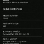 Jelly Bean 10.1.1.A.1.307 firmware for Xperia Z C6603