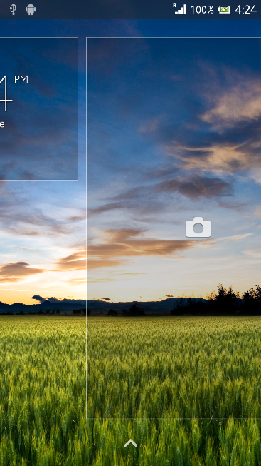 Lock Screen Camera settings in Xperia Z C6603 Android 4.2.2 Jelly Bean 10.3.X.X.XXX firmware