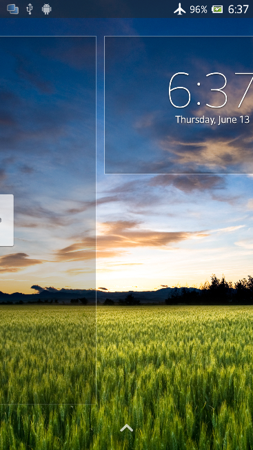 Lock screen of Xperia Z C6603 Android 4.2.2 Jelly Bean 10.3.X.X.XXX firmware Details