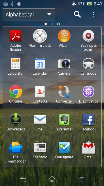 New Home Laucnher in Xperia Z C6603 Android 4.2.2 Jelly Bean 10.3.X.X.XXX firmware Details