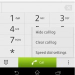 New SPEED DIAL settings in Jelly Bean 10.1.1.A.1.307 firmware for Xperia Z C6603