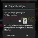 No Stamina mode in Xperia S Jelly Bean 6.2.B.0.200 firmware