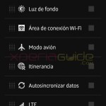 Quick Settings options in Xperia Z C6603 Android 4.2.2 Jelly Bean 10.3.A.0.423