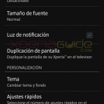 Screen Settings in Xperia Z C6603 Android 4.2.2 Jelly Bean 10.3.A.0.423