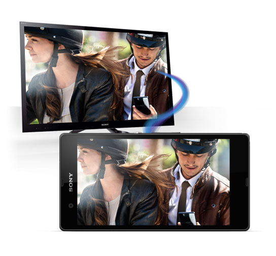 Sony Xperia Z Ultra Screen Tapping sharing