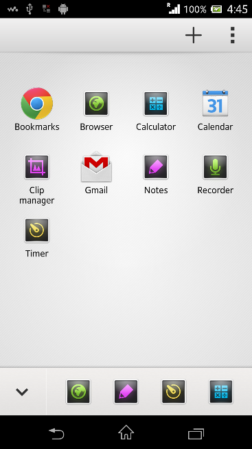 Start up menu in Xperia Z C6603 Android 4.2.2 Jelly Bean 10.3.X.X.XXX firmware