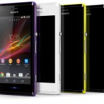 Xperia M Phone in Black White Purple Lime colors