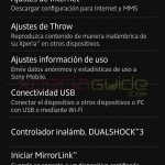 Xperia Options in Xperia Z C6603 Android 4.2.2 Jelly Bean 10.3.A.0.423