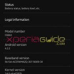 Xperia Z C6602 Android 4.2.2 Jelly Bean 10.3.A.0.423 firmware details