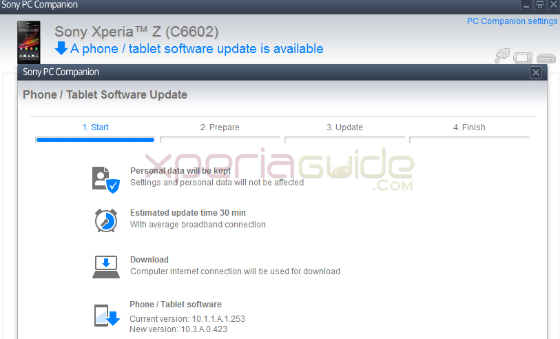 Install xperia z c6603 android 4. 2. 2 jelly bean 10. 3. A. 0. 423 ftf file.