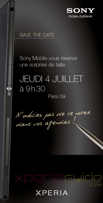 Xperia Z Ultra Photo Leaked from Sony Mobile Press Invite in France