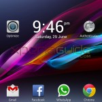 Xperia Z Ultra ZU, Xperia Honami i1 HomeScreen Android 4.2.2 Jelly Bean wallpaper