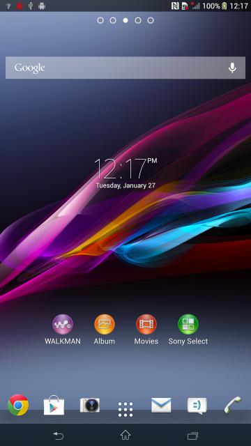 Xperia ZU Togari HomeScreen Screenshots Leaked