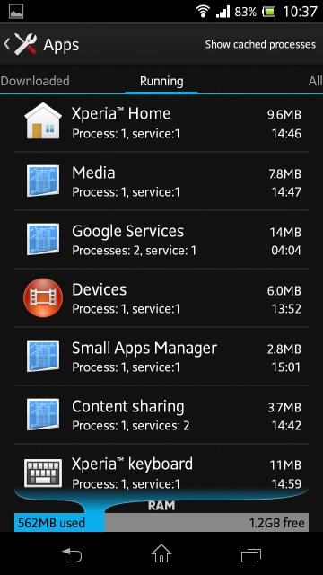 1762 MB RAM In Xperia ZR Android 4.2.2 10.3.1.A.0.244 firmware update