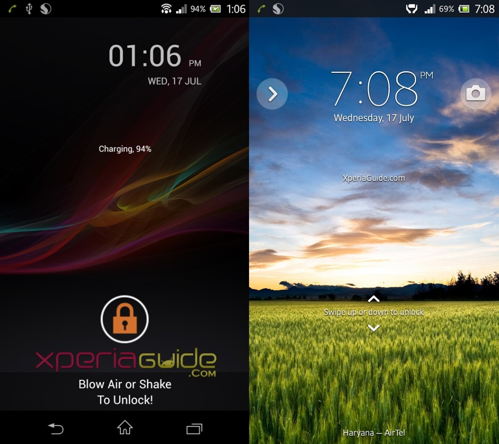 Canvas 4 Blow to Unlock App Lockscreen on Xperia Z C6602