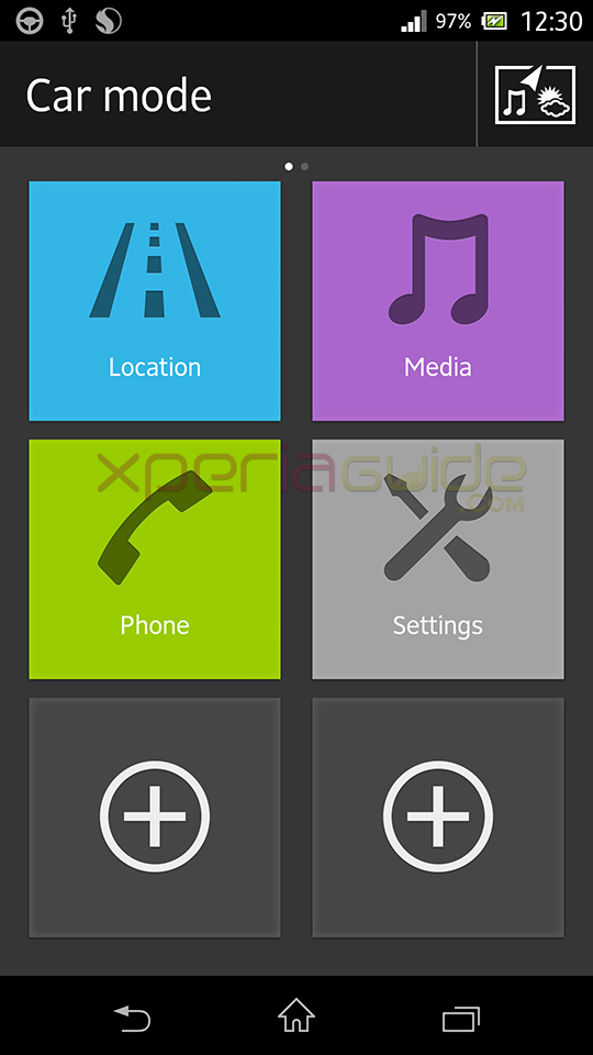 Car Mode App in Xperia Z C6602 Android 4.2.2 10.3.1.A.0.244 firmware