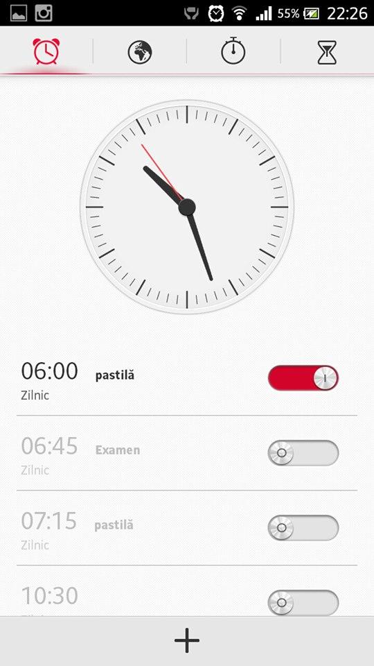 Clock app of Xperia Honami on Xperia S SL