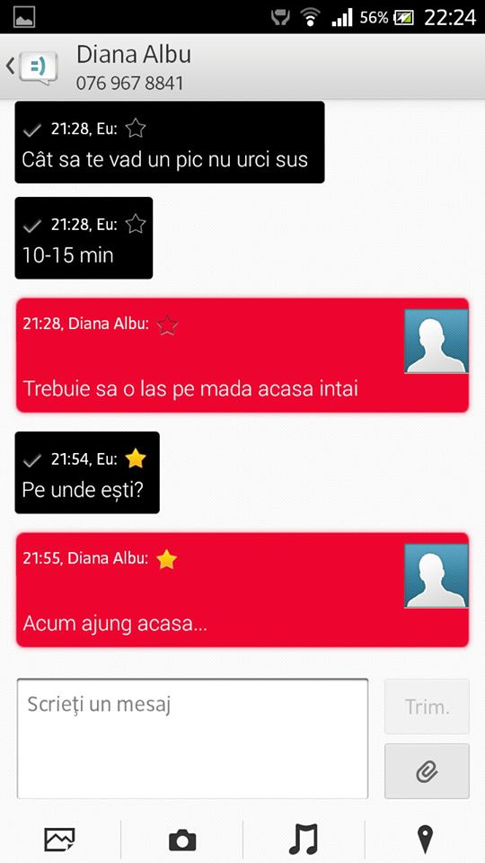 Messaging app of Xperia Honami on Xperia S SL