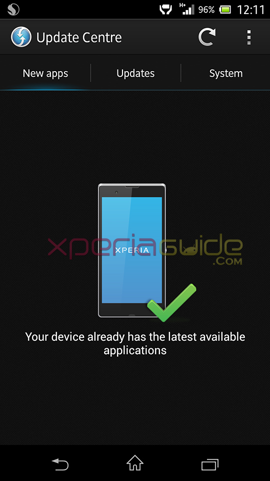 New Update Center UI in Xperia Z C6602 Android 4.2.2 10.3.1.A.0.244 firmware