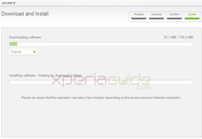 Xperia Z C6602 Android 4.2.2 10.3.1.A.0.244 firmware update via SUS