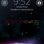 Xperia Z Ultra, Xperia Honami i1 Lock Screen theme