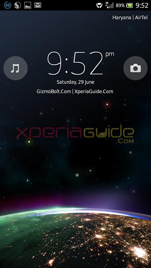 Xperia Z Ultra, Xperia Honami i1 Lock Screen theme